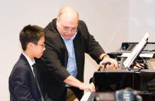 Dr. Roux teaching at The International Music Academy masterclass
